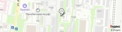 ПМК-5, ЗАО на карте Пензы