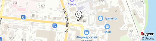 Урицкий на карте Пензы
