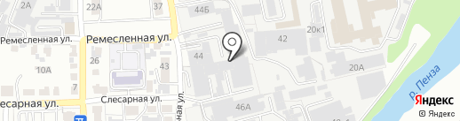 ТриА на карте Пензы