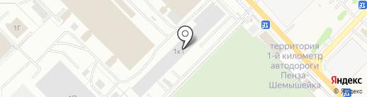 СМГ на карте Пензы