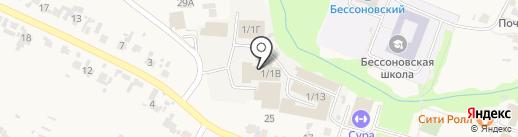 Отделение ГИБДД Отдела МВД России по Бессоновскому району на карте Бессоновки