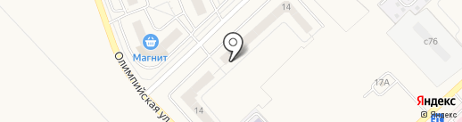 Город Спутник на карте Засечного