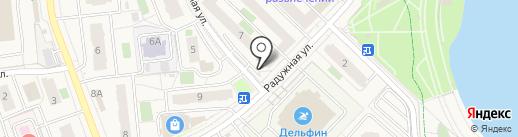 Сеть киосков и магазинов фастфудной продукции на карте Засечного
