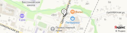 Киоск по продаже питьевой воды на карте Бессоновки