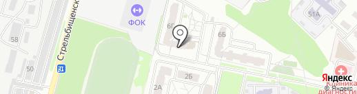 На Стрельбищенской на карте Пензы