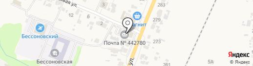 Банкомат, Поволжский банк Сбербанка России на карте Бессоновки