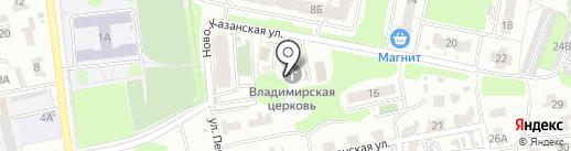Храм во имя Владимирской иконы божией матери на карте Пензы