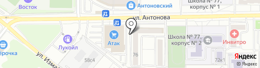 РОСТУМ-Недвижимость на карте Пензы