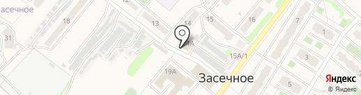 Отделение почтовой связи Засечное на карте Засечного