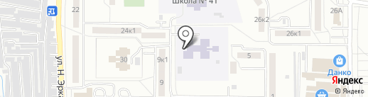 Детский сад №20 на карте Саранска
