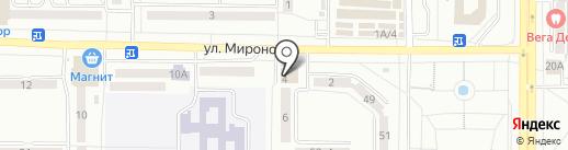 Магнит Косметик на карте Саранска