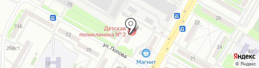 Детская поликлиника №2 на карте Саранска