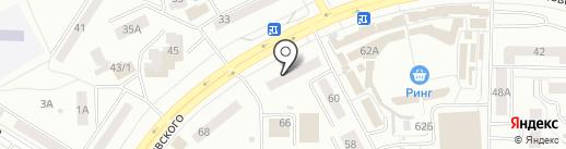Кнопка на карте Саранска