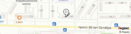 Солнечное на карте Саранска