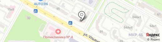 Хеликс на карте Саранска