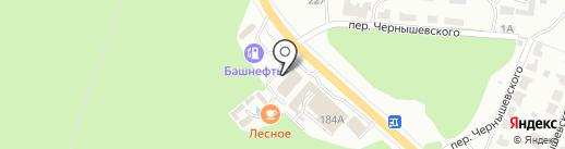 Лесное на карте Саранска