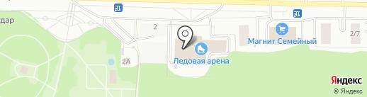 Ледовая арена Пролетарского района на карте Саранска