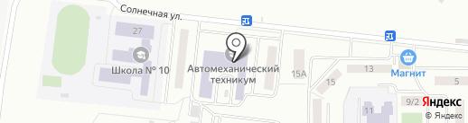Саранский автомеханический техникум на карте Саранска