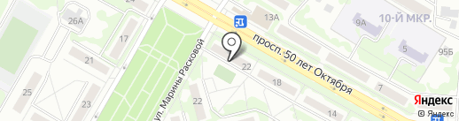 Магазин продуктов на карте Саранска