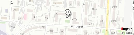 Средняя общеобразовательная школа №21 на карте Саранска
