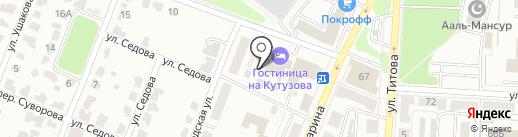 Гостиница на ул. Кутузова на карте Саранска