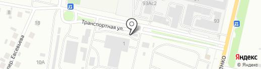 Троллейбусное депо №1 на карте Саранска