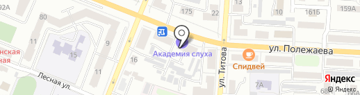 Академия Слуха на карте Саранска