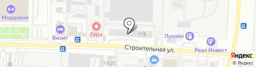Иномарка 13.RUS на карте Саранска