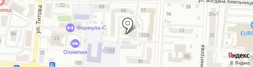 Федеральная почтовая служба на карте Саранска