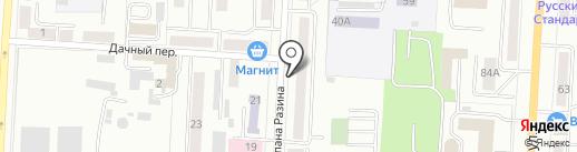 Эконика на карте Саранска