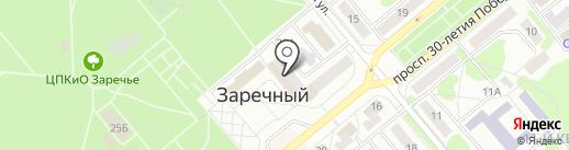 Банкомат, Банк Кузнецкий на карте Заречного