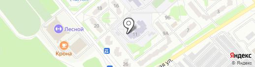 Средняя общеобразовательная школа №218, МОУ на карте Заречного