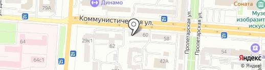 А-элита на карте Саранска