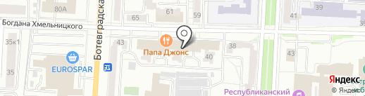 Спартак на карте Саранска