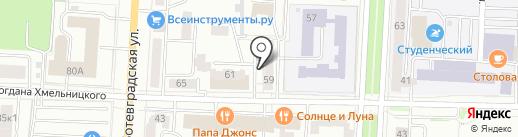 Бархан на карте Саранска