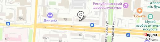 Лаванда на карте Саранска