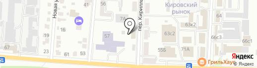 Вералина на карте Саранска