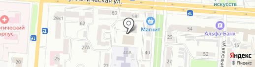 Московского Международного Университета на карте Саранска