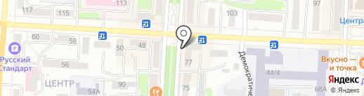 Адель на карте Саранска