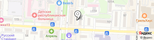 Сеть салонов цветов на карте Саранска