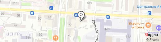 Восточный дворик на карте Саранска
