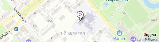 Гимназия №216 на карте Заречного