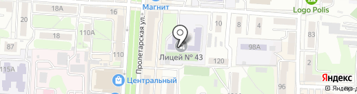 Лицей №43 на карте Саранска