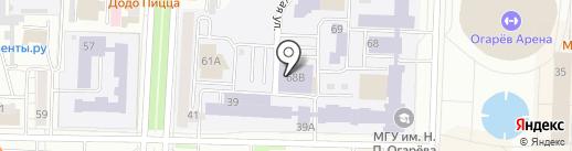 Студенческая на карте Саранска