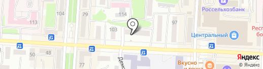 Голдбер на карте Саранска