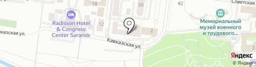 Межрегиональное объединение проектных организаций, НП на карте Саранска