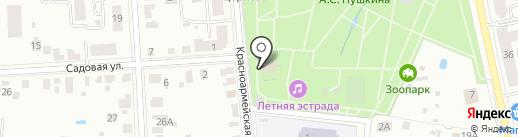Парк культуры и отдыха им. А.С. Пушкина на карте Саранска
