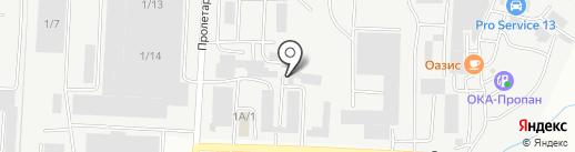 Коваль на карте Саранска