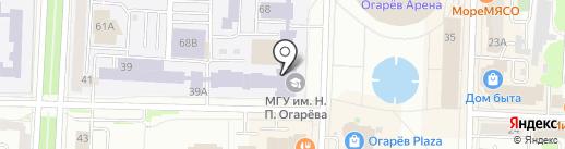 Музейный комплекс МГУ им. Н.П. Огарева на карте Саранска