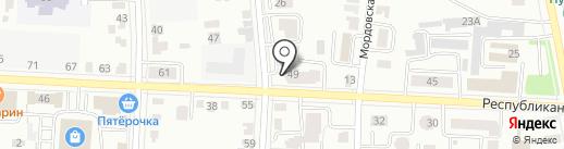 Пудра на карте Саранска